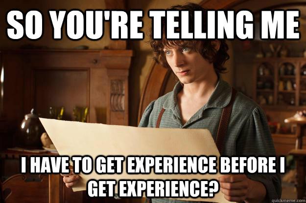 Experience Meme   TaylorMadeMarketing©